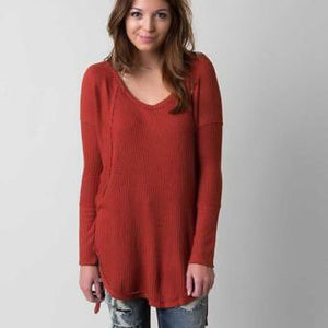 FreePeople rust Ventura' HighLow Thermal Top.Small